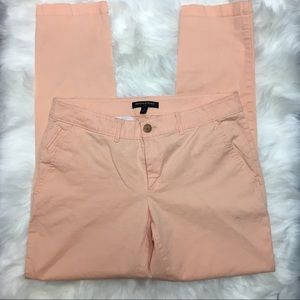 Banana Republic trousers peach apricot tapered 4